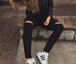 adidas, black, and style image