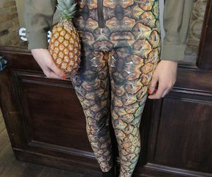 pineapple, fashion, and girl image