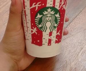 christmas, starbucks, and coffe image