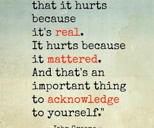 quote, hurt, and real image