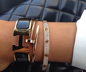 hermes, bracelet, and luxury image