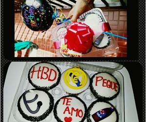 balloon, cupcakes, and real madrid image