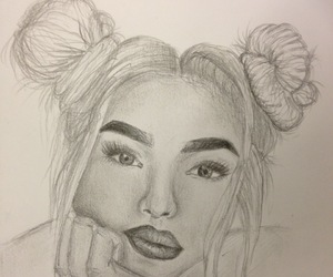 art, drawings, and sketch image