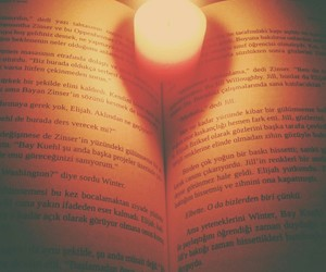 book, dark, and candle image