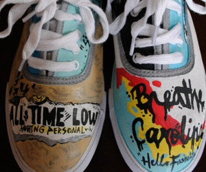 all time low, shoes, and breathe carolina image