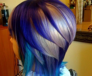 blue, hair, and layers image