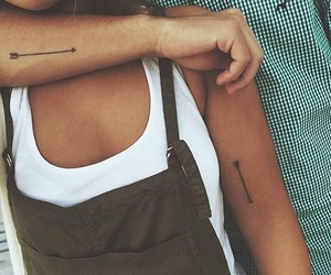 tattoo, couple, and small image