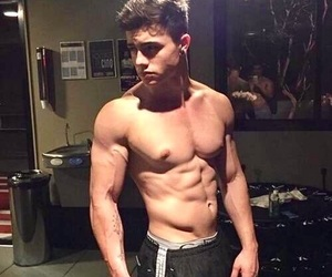 boy, body, and abs image