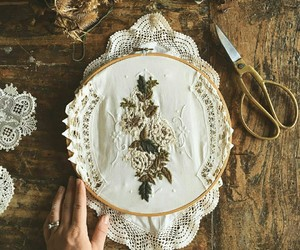 embroidery, handcraft, and handmade image