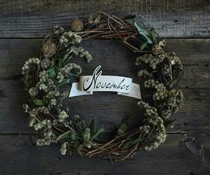 garland, november, and still life image