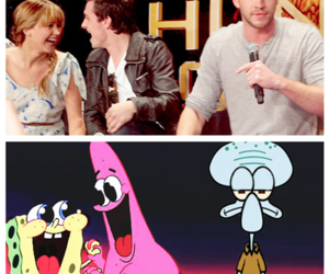 spongebob and patrick, ahaha, and squidward tentacles image