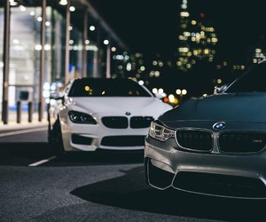 bmw and night image