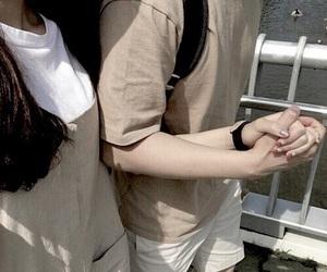 couple, aesthetic, and beige image