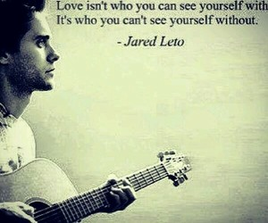 jared leto, quote, and love image
