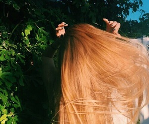 green, hair, and nature image