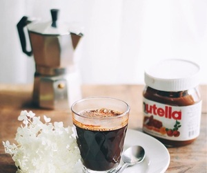coffee, food, and nutella image