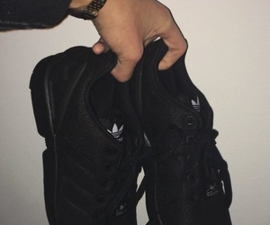 adidas, black, and love image