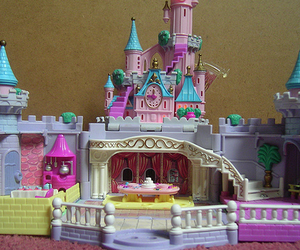 pink, castle, and pretty image