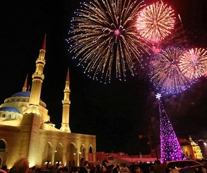 fireworks, lights, and new year image