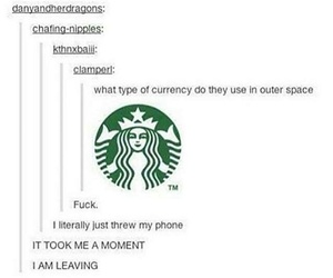 funny, starbucks, and tumblr image