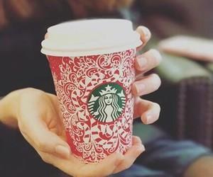 christmas, coffee, and nails image