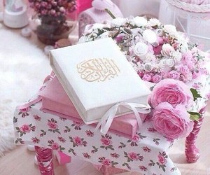 quran, flowers, and islam image