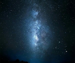 galaxy, road, and stars image