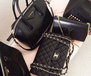 bag, chanel, and black image