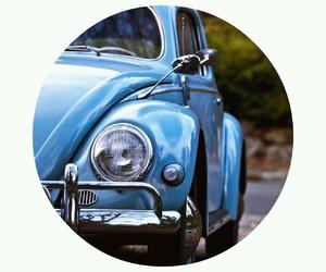 blue, car, and fusca image