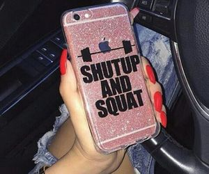 iphone, nails, and fitness image