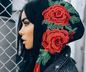 fashion, girl, and rose image