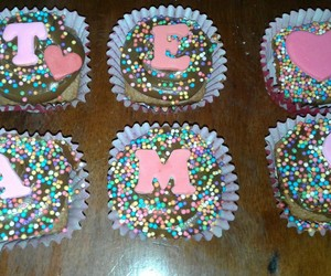cupcakes, pink, and love image