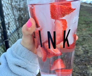drink, healthy, and pink image