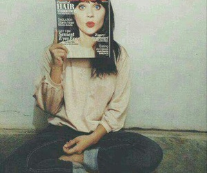 girl, magazine, and zooey deschanel image