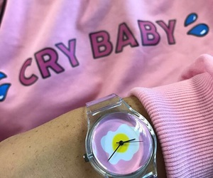 cry baby, pink, and aesthetic image