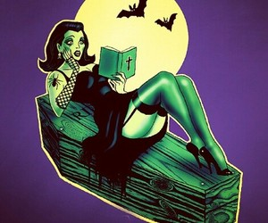 black, Halloween, and psychobilly image