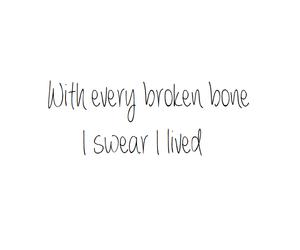 bone, broken, and inspiration image