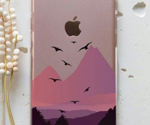 case, mountains, and pink image