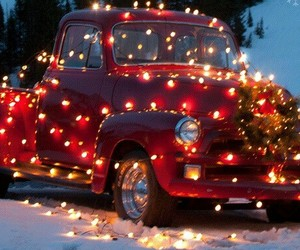 christmas, light, and car image