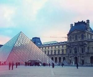 city, louvre, and paris image