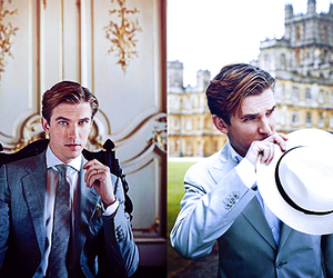 blue eyes, dan stevens, and downtown abbey image