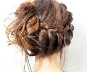 brown, girl, and tresses image