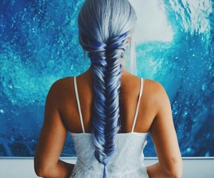 blue hair, colors, and fashion image