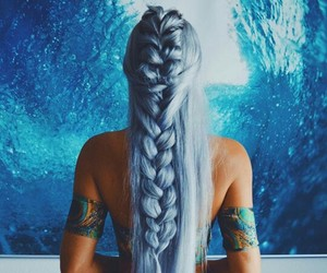 blue hair, colors, and long hair image