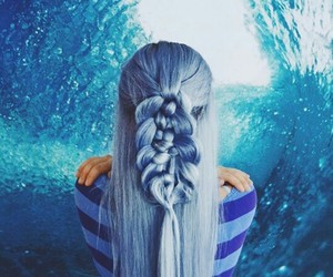 blue, braid, and fall image