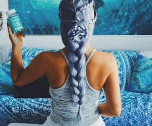 blue hair, girl, and colors image