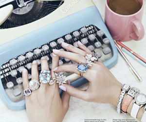 rings, nails, and coffee image