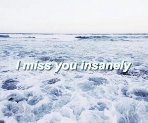 blue, i miss you, and ocean image