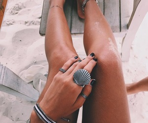 summer, beach, and rings image