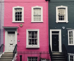 pink, black, and house image